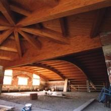 tetto sala degustazione